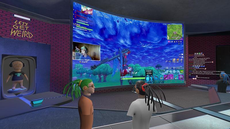 在虛擬實境中一起收看知名實況主 Ninja 實況(圖片來源:官方)