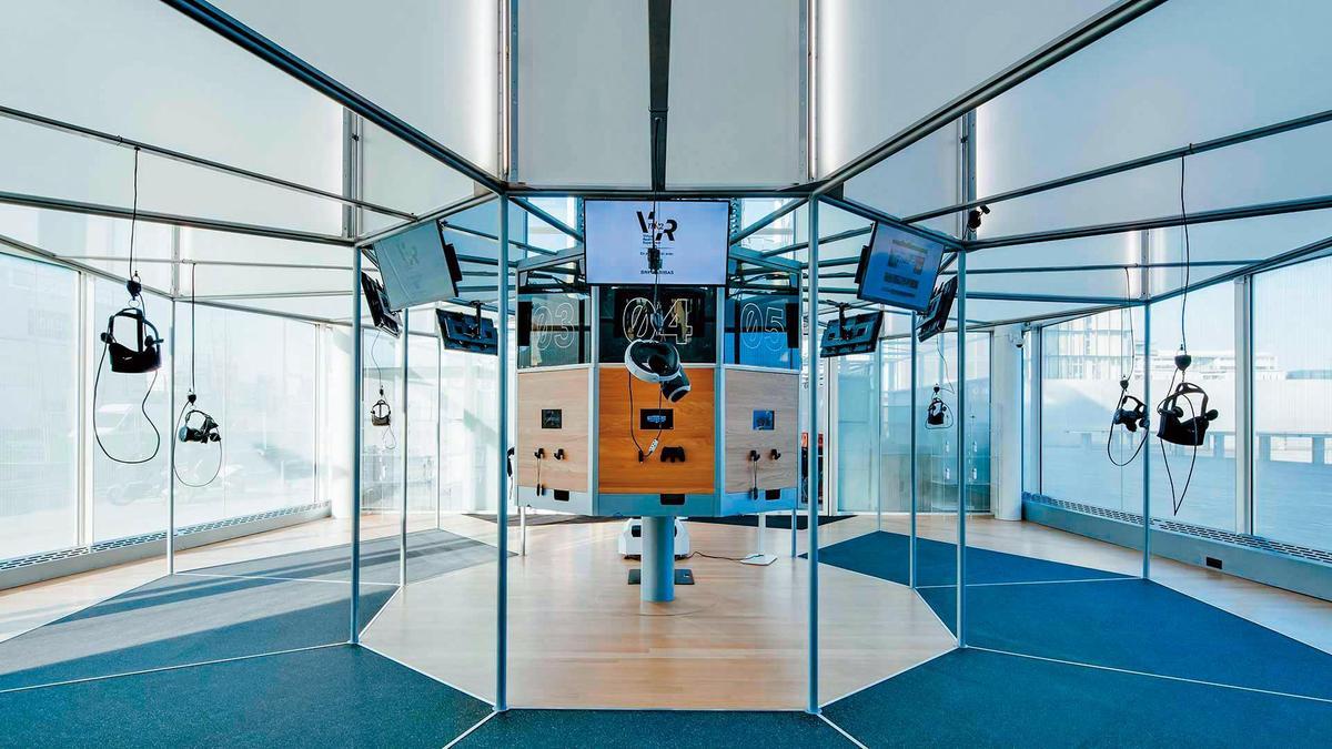 法國MK2公司2年前開始設立觀賞VR的場所,還可配合舉辦各類活動。(翻攝自mk2vr.com)