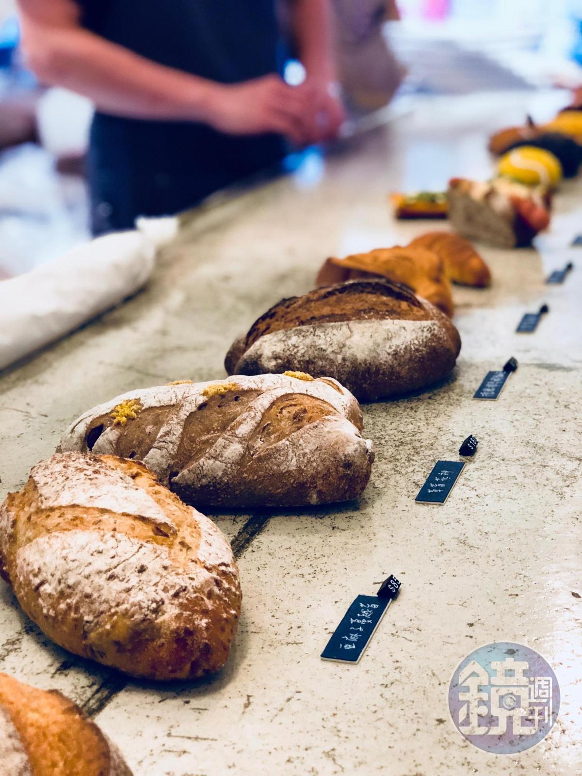 紮實且多樣的歐式麵包。