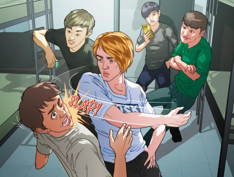 林姓少年被劉姓同事誣陷偷錢,在公司宿舍遭賞耳光霸凌,其他人還圍觀直播。