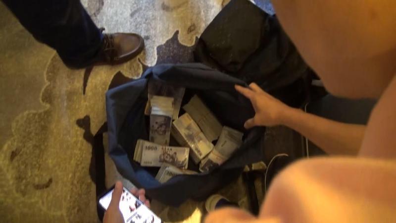 警方查獲大量地下匯兌現金。(刑事局提供)