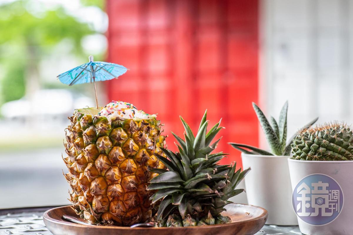 「香蕉鳳梨冰沙」有著濃濃果香和小農心意。(150元/份)