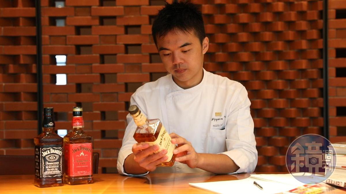 「誠品行旅」西餐總主廚林玉罡是威士忌發燒友,自接到料理任務後,便認真試酒。