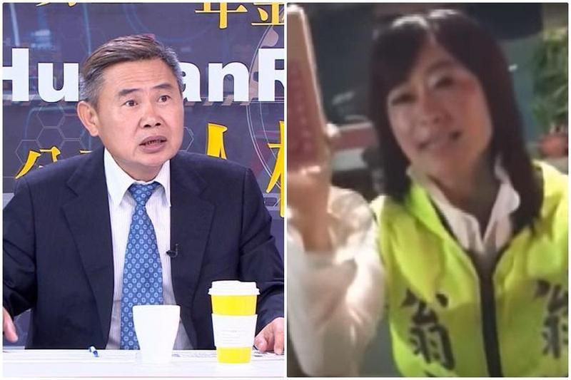 姨丈李俊毅(左圖)於臉書發表聲明,譴責翁語含(右圖)的不當行為。(左圖翻攝李俊毅臉書,右圖翻攝爆廢公社影片)