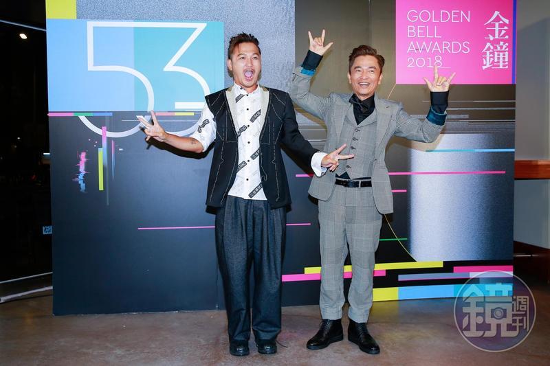 吳宗憲和KID昨晚以《綜藝玩很大》連莊益智及實境節目主持人獎,在慶功宴上開心分享得獎心情。