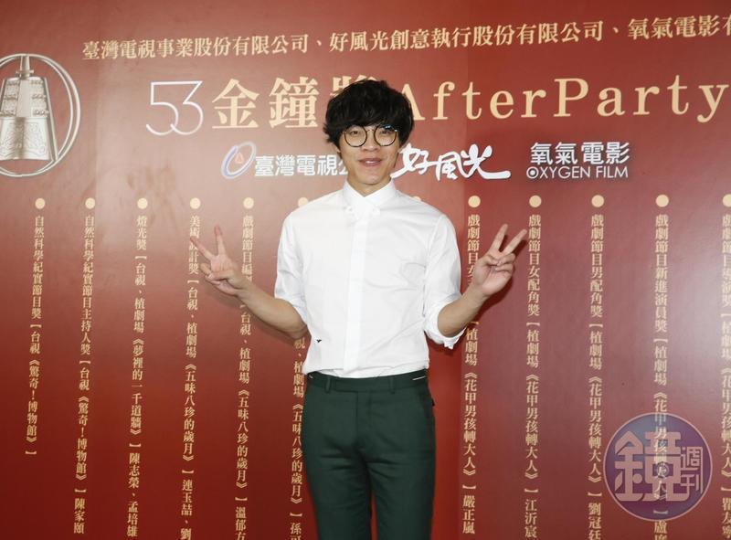盧廣仲以《花甲男孩轉大人》的花甲拿下金鐘獎最佳男主角與新進演員獎,成為雙料冠軍王。