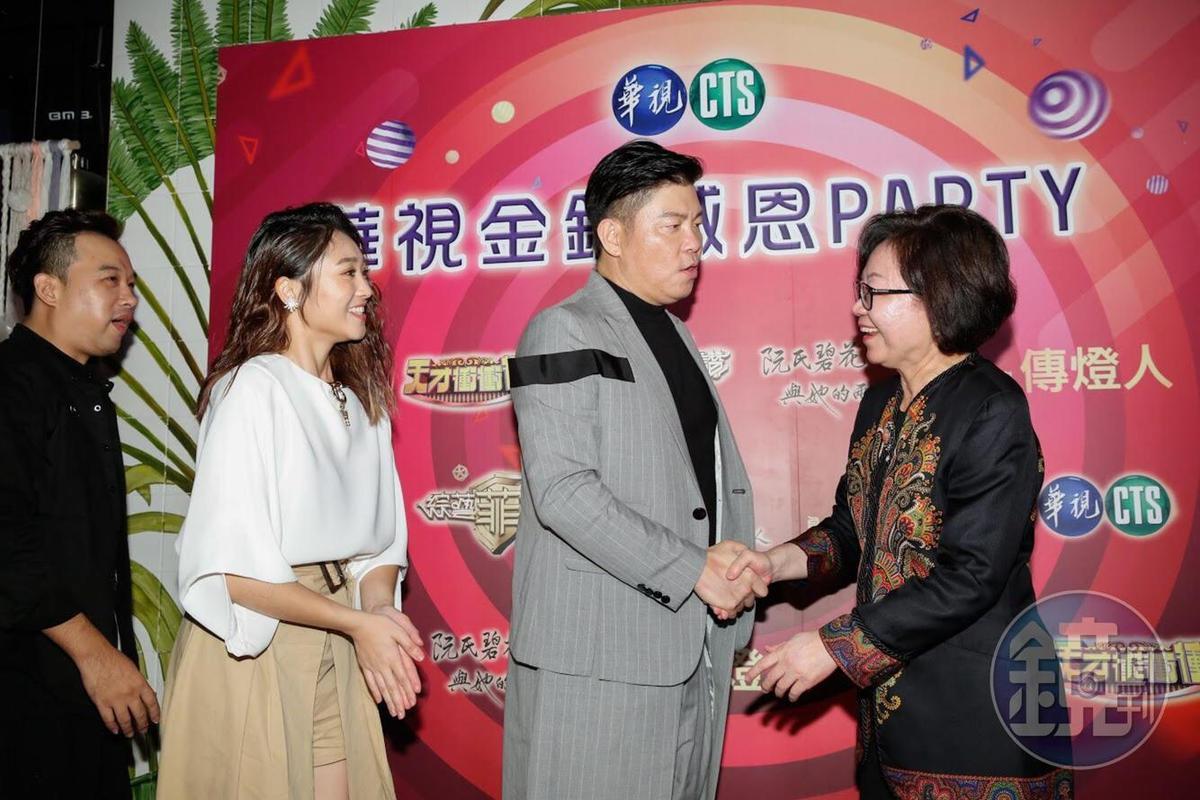 華視董事長陳郁秀肯定曾國城為節目的用心。