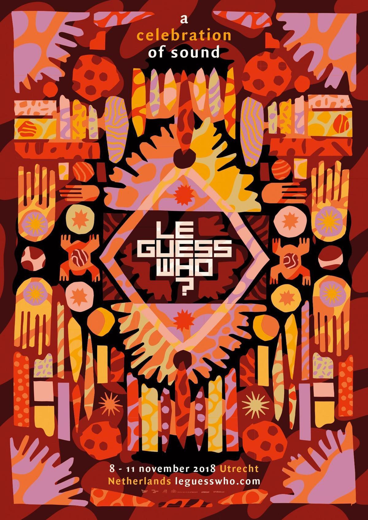 一年一度的 Le Guess Who?音樂節將於11月8日登場,今年的海報顏色繽紛。(翻攝自Le Guess Who?官網)