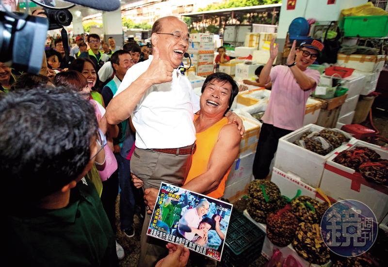 民進黨新北市長參選人蘇貞昌參選以來聲勢不斷攀高,被洪耀福稱讚是奧斯卡級競選團隊。