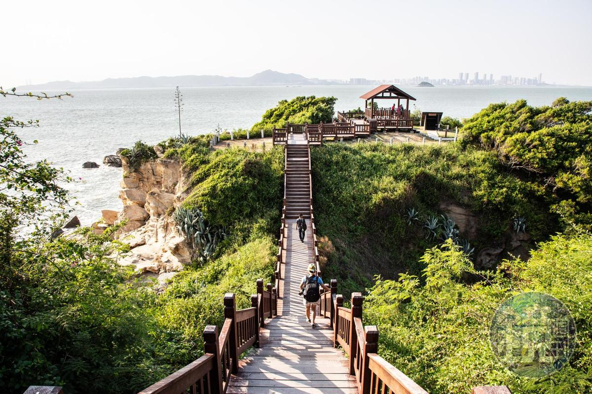 位於烈嶼西南角的「沙溪堡」,擁有觀賞廈門海岸風光的最佳角度。