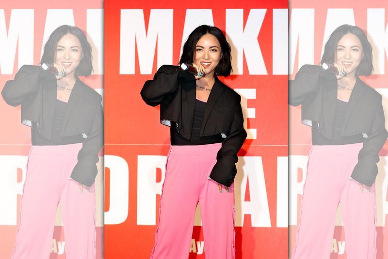 新人葉曉粵在台灣宣傳數位單曲〈Make the Dream〉,頂著陳奕迅弟子光環受到矚目。(雷電娛樂)