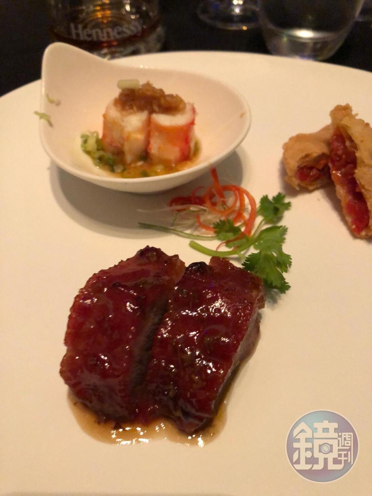 V.S.O.P與帶甜味的叉燒、番茄乾都搭配得很好。