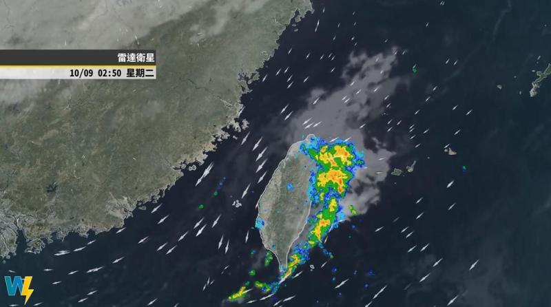 彭啟明分析南北部天氣,指降雨與最高溫都有差距,「好像是一個台灣兩個世界一樣。」(翻攝自氣象達人彭啟明粉專)