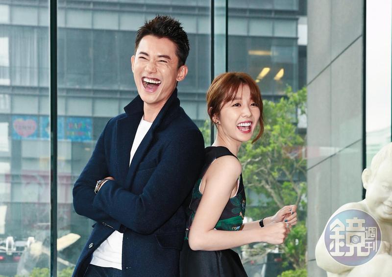 拍攝《極品絕配》時,邵雨薇(右)在跟張立昂交往,吳慷仁(左)則是跟鍾瑶,沒想到戲拍完2對都玩完。