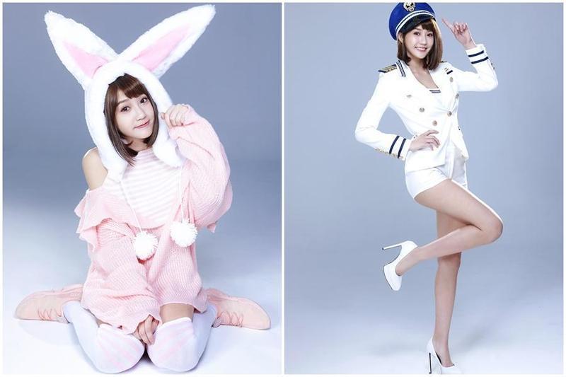 四葉草在代言手遊的多組造型中,最中意又萌又可愛的兔子裝。(金橋娛科提供)