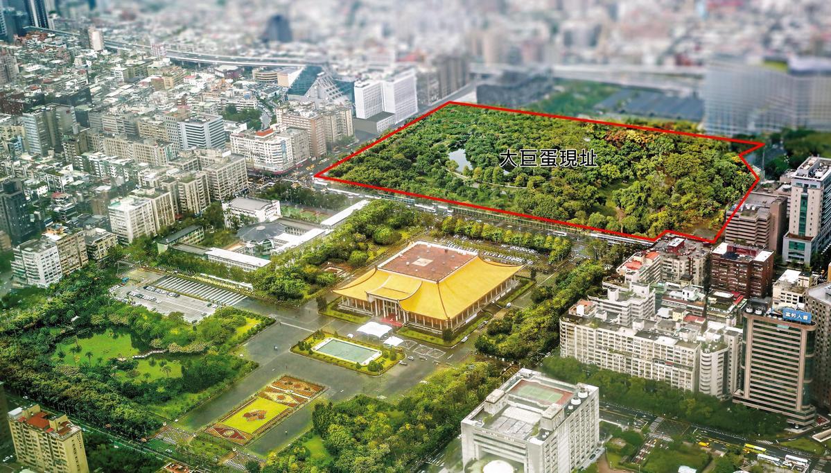 北市府一度考慮拆除大巨蛋,將原址開闢成都市生態公園。(圖為模擬畫面)