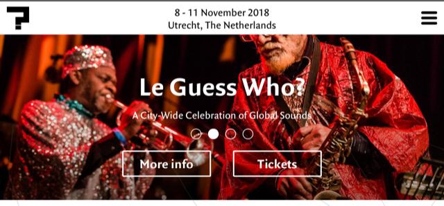 Le Guess Who?音樂節的官網內容非常豐富,涵蓋世界各地音樂家的訊息。(翻攝自www.leguesswho.nl)