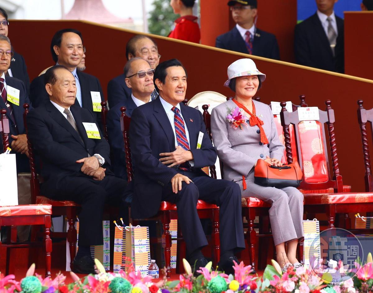 前總統馬英九出席國慶大會。