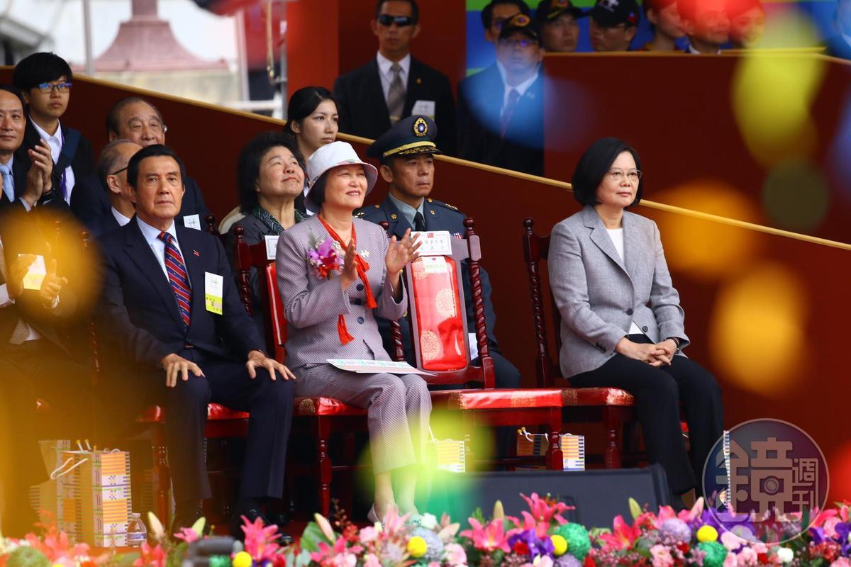 前總統馬英九與蔡英文互動不多。