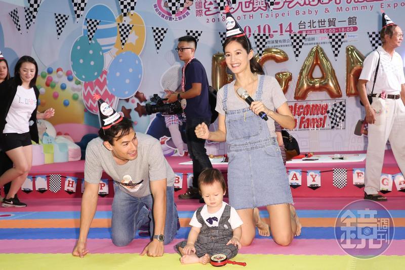 Janet參加2018台北國際嬰兒與孕媽咪用品展,幫兒子Egan舉辦週歲歡樂趴。