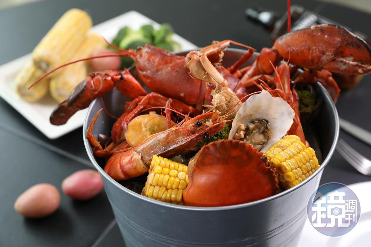 飽滿鮮紅的海鮮,誘人食欲。