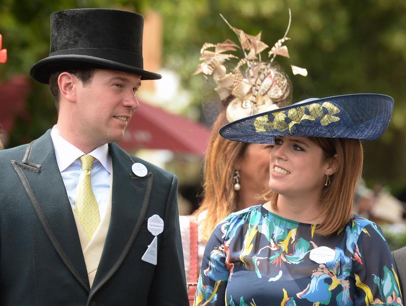 尤金妮亞公主與相戀多年的未婚夫終於修成正果,兩人經常一同出席王室公開活動。(東方IC)