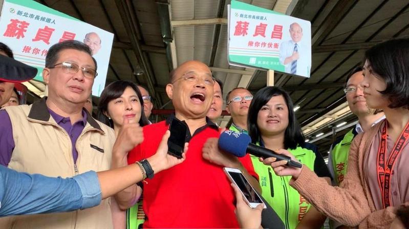 民進黨新北市長參選人蘇貞昌樂見深澳電廠停建。(蘇貞昌競選辦公室提供)