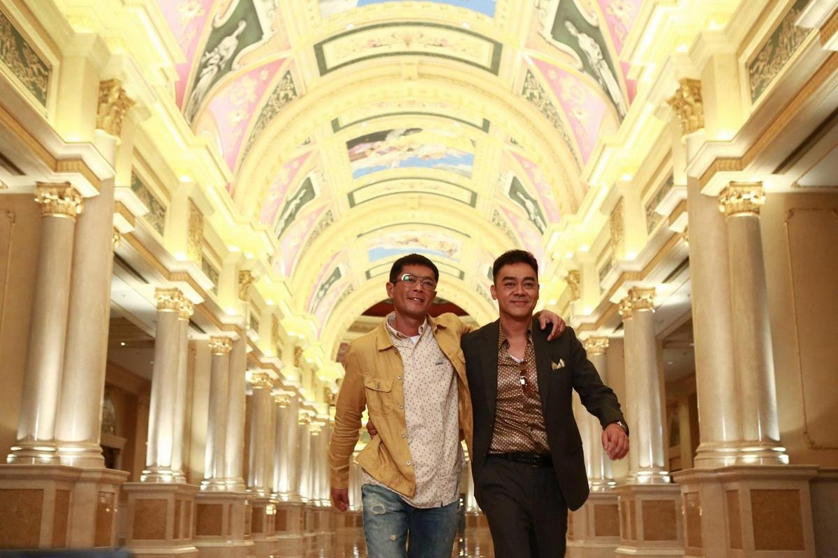 劉青雲(右)與古天樂主演的《竊聽風雲3》由莊文強、麥兆輝聯合編導。(東方IC)