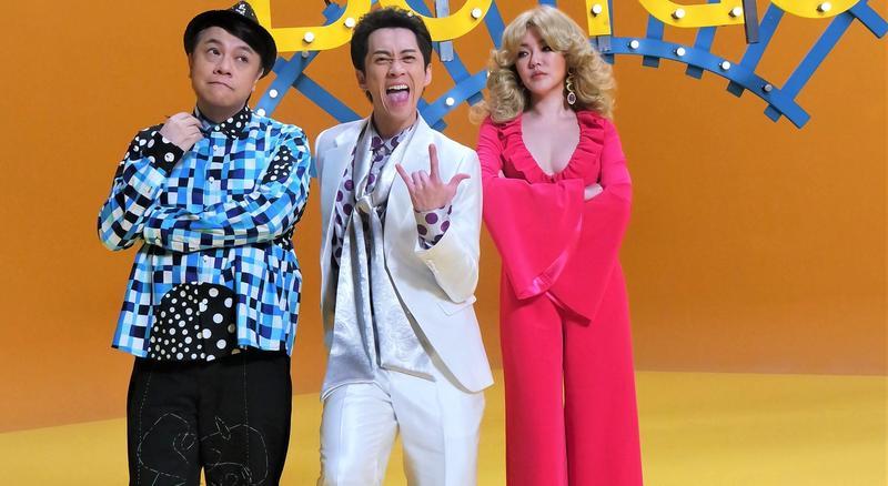 陳漢典(中)首支單曲〈先不要〉,MV邀來蔡康永(左)、小S齊入鏡。(有聲娛樂提供)
