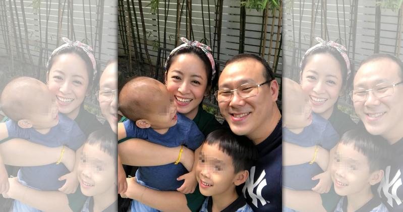 范筱梵經常在臉書曬出家庭生活,卻傳出老公外遇,右為老公Johnny。(翻攝自范筱梵粉絲團)