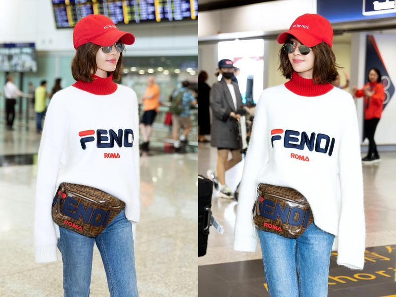 蔡依林的FENDI MANIA服裝與腰包,皆為NT$39,000。(FENDI提供)