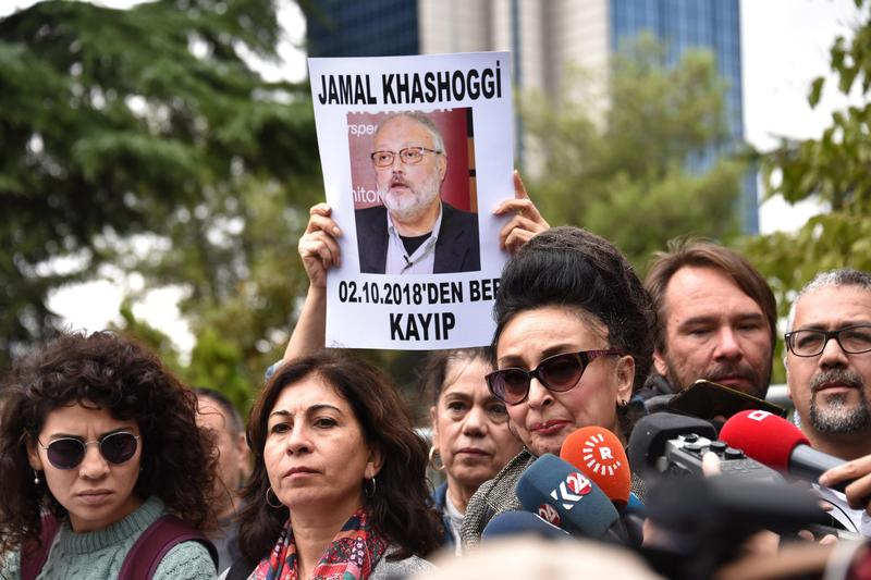 哈紹吉遭證實已在沙國駐伊斯坦堡的領事館內遭肢解殺害,目前沙國已全面調查該案。(東方IC)