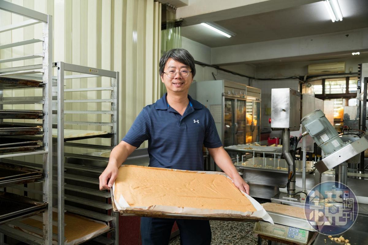 楊孟祥本來是科技新貴,為了老家的這塊鹹蛋糕跳槽烘焙界。