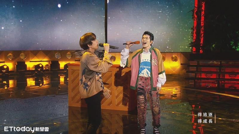 蕭敬騰、林宥嘉在《聲林之王》經常有即興演出。(量子娛樂提供)