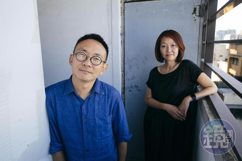 何蔚庭(左)與胡至欣是夫妻、也是多年的工作夥伴,何蔚庭電影《台北星期天》《幸福城市》胡至欣都是監製。