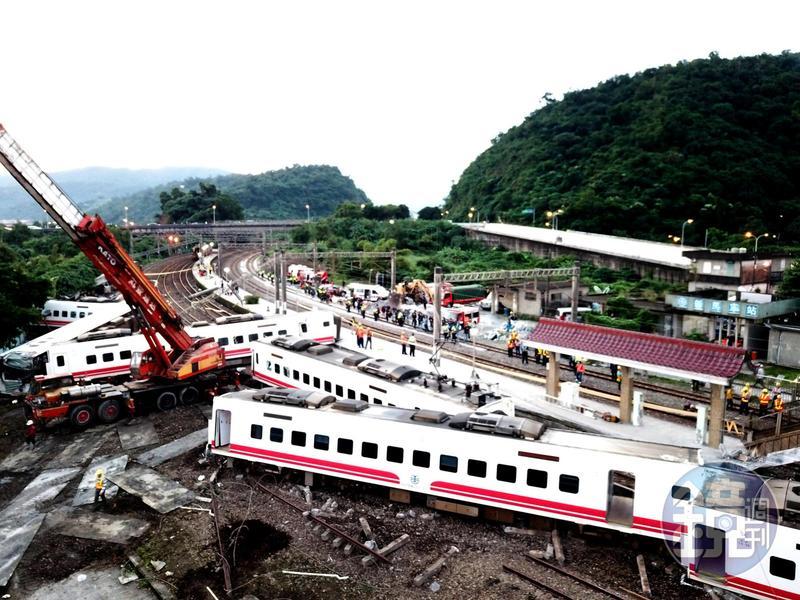 台鐵普悠瑪列車昨日傍晚發生翻覆意外,司機目前狀況穩定,已恢復語言能力可做筆錄。