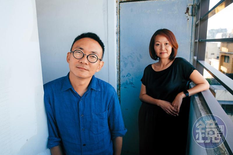 何蔚庭(左)與胡至欣是夫妻、也是多年的工作夥伴,何蔚庭導演的電影《台北星期天》《幸福城市》胡至欣都是監製。