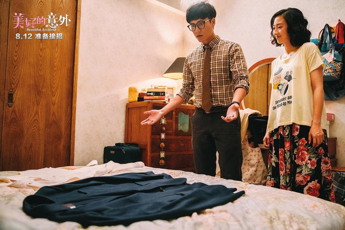 華誼兄弟電影出資的電影《美好的意外》由何蔚庭執導、桂綸鎂(右)與陳坤主演。(東方IC)