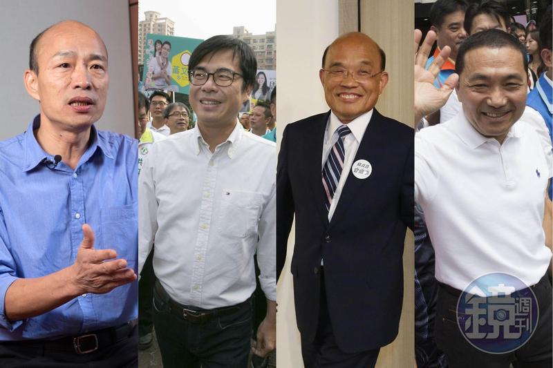 年底九合一選舉進入倒數階段,知名作家苦苓預測六都當選名單。