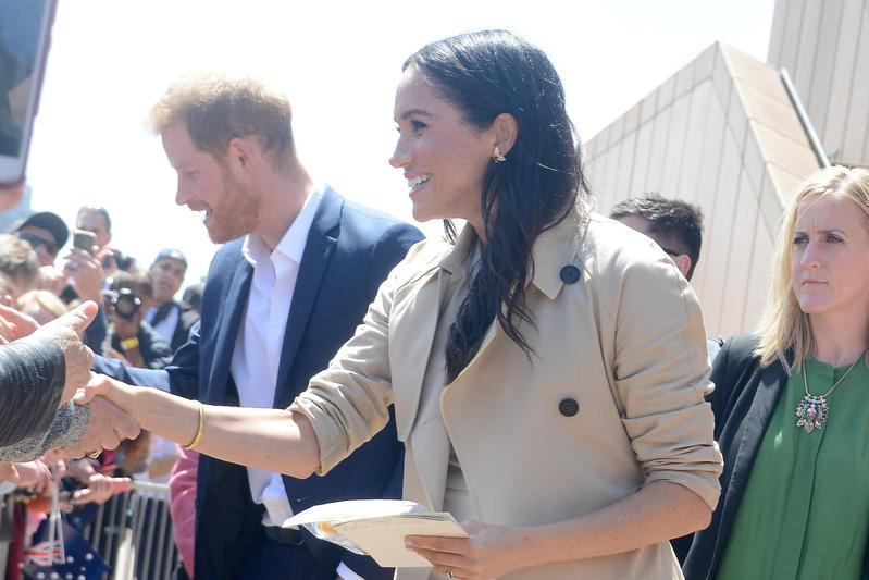 哈利王子和梅根一同出訪澳洲。(東方IC)