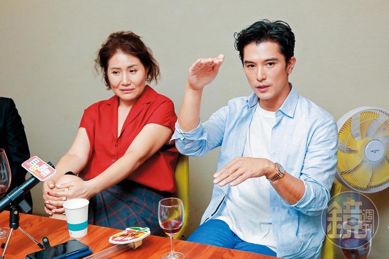 徐譽庭(左)首次執導成績驚人,連邱澤(右)的演技也大突破。