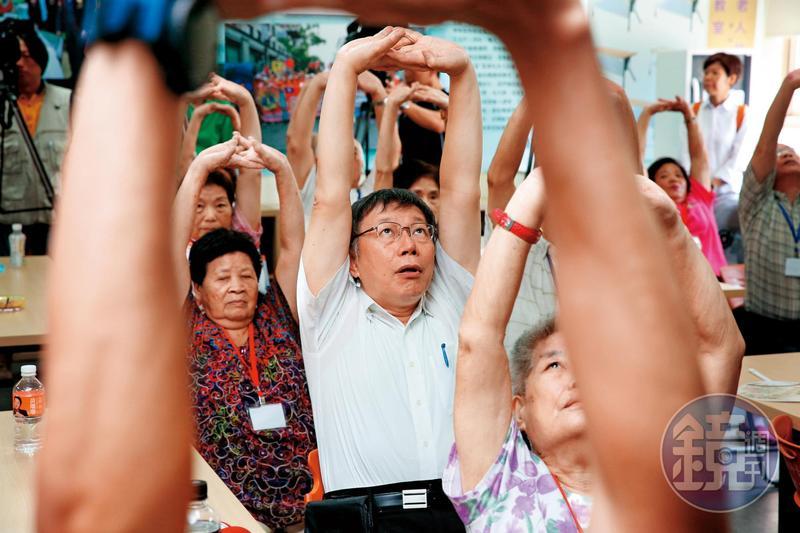 台北市長柯文哲當選呼聲最高,在台北市可說穩操勝券。