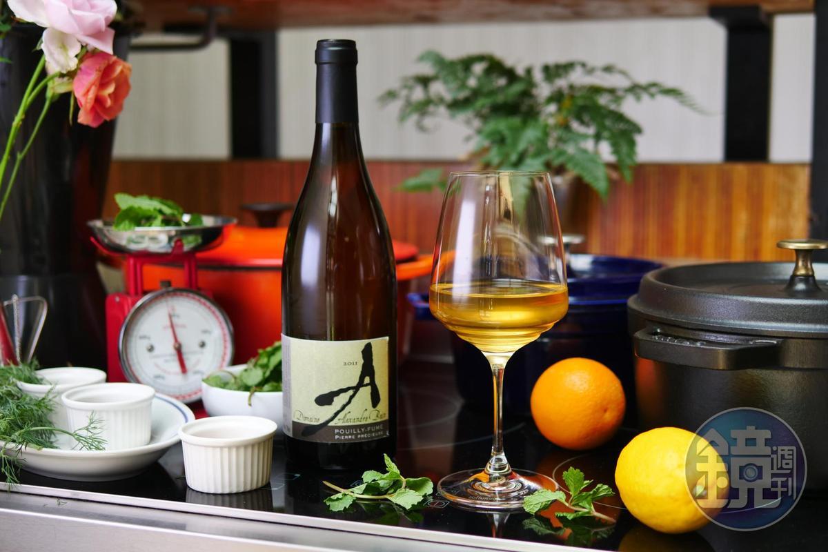 自然酒「Pouilly Fume < Pierre Precieuse> 2011, Domaine Alexandre Bain」 花香繽紛。(旭宣葡萄酒,2,100元/瓶)