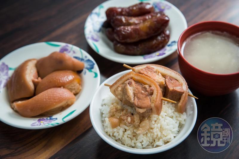 阿興魯肉飯的爌肉肥而不膩,瘦肉鮮嫩不柴。(爌肉便當,65元)