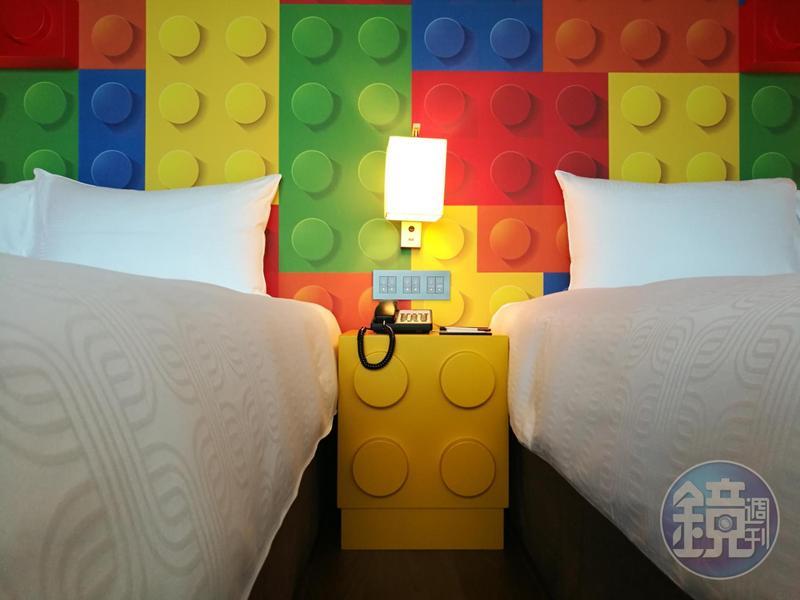 「兆品酒店礁溪」以大人小孩都愛的「積木」主題,打造出泊麗客房主題樓層。