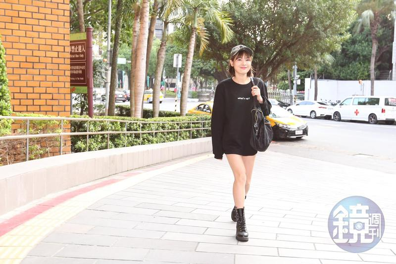 陳沂身穿迷彩帽、熱褲出庭應訊,稱是法院時尚。