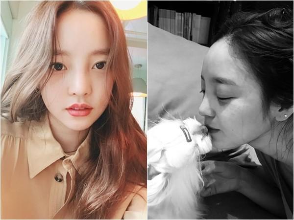 南韓女星具荷拉遭前男友威脅公布兩人性愛影片,有民眾在青瓦台網站上發起請願,要求嚴懲復仇式公開性愛影片者。(翻攝具荷拉IG)