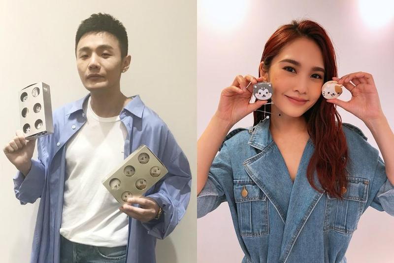 楊丞琳與男友李榮浩為愛合體,一起為毛小孩造型馬卡龍禮盒宣傳。(愛最大公益平台提供)
