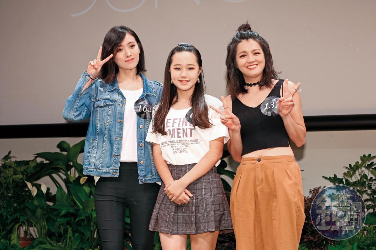 《聲林之王》節目吸引不少星二代報名參加,例如高凌風的女兒葛子揚(左起)、張秀卿女兒林莉,以及林瑞陽的女兒林靜。