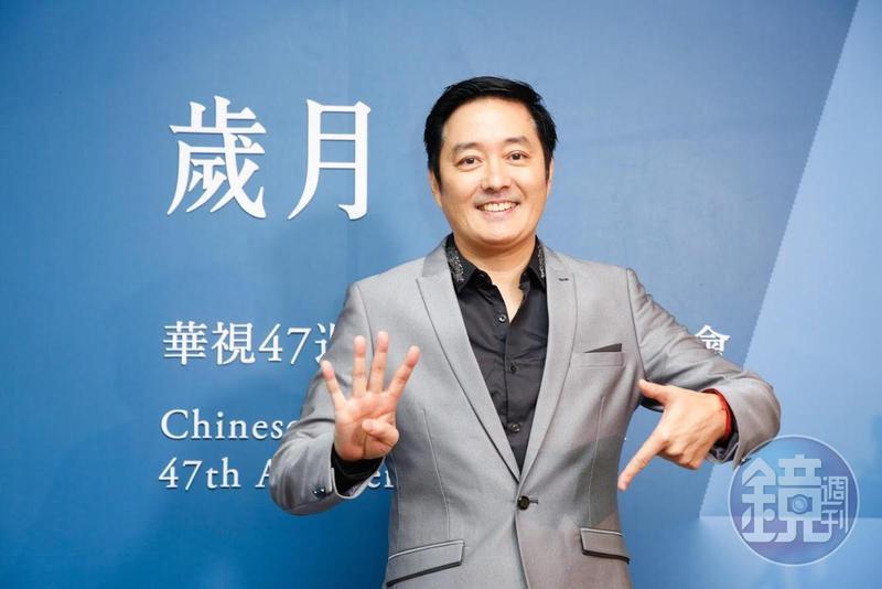 李志希長年在大陸拍戲,昨現身華視參加台慶活動。